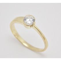 Zásnubný prsteň žlté zlato Roxane