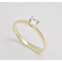Zásnubný prsteň žlté zlato Roma
