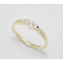 Zásnubný prsteň žlté zlato Trendy