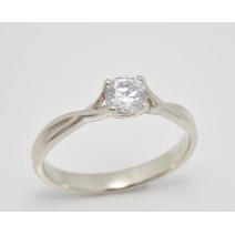 Zásnubný prsteň biele zlato Avila