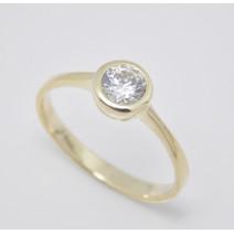 Zásnubný prsteň žlté zlato Sandy