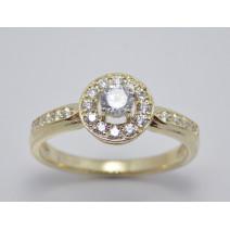Zásnubný prsteň žlté zlato Peyton