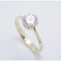 Zásnubný prsteň žlté zlato Tara