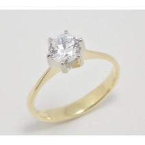 Zásnubný prsteň žlto-biele zlato Lauren