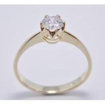 Zásnubný prsteň žlté zlato Sofia